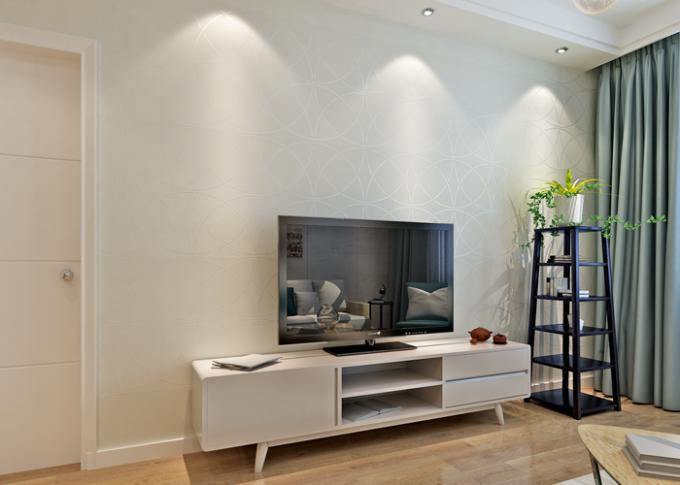 Beige Nicht Gesponnenes Wallcovering Papier, Moderne Gestreifte Tapete Für  Schlafzimmer Und Wohnzimmer