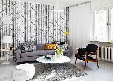 Birken zeitgenössische Wandverkleidungen/Tapete für Wohnzimmer 0.53*10M