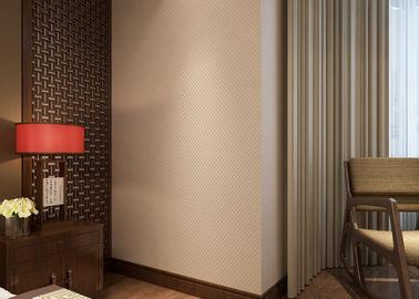 Nicht- gesponnene reine beige moderne entfernbare Tapete für Schlafzimmer, Hotel