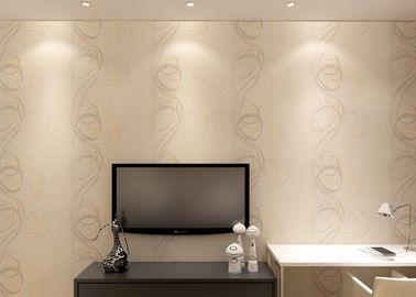 0.53*10M waschbare Vinyltapete prägeartige Kreis-Streifen für Wohnzimmer