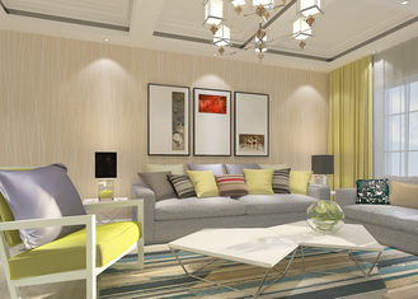 Streifen grau und weiße rosa moderne entfernbare Tapeten-Inneneinrichtung umweltfreundlich