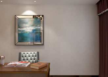 Wasserdichte asiatische angespornte Tapete, Blatt-Muster-moderne Haus-Tapete