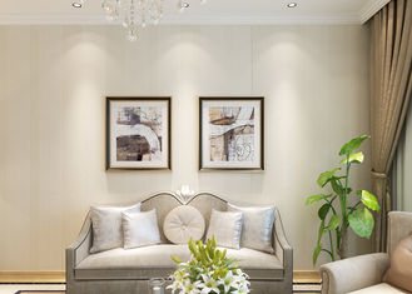 Weiße silbernes Grau-entfernbare zeitgenössische Wandverkleidungen ohne schädlichen Geruch