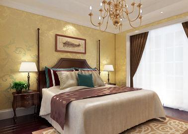 Goldfolien-Blumenmuster-Land-Schlafzimmer-Tapete wasserdicht für Hauptinnenraum