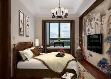 Schlafzimmer-hellgraue moderne entfernbare Tapete, Haus, das Tapete verziert