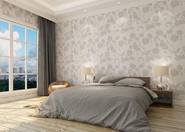 Wasserdichte Vinyllandhausstil-Tapete mit Blumenmuster für Schlafzimmer