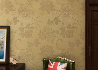 Beige zeitgenössische mit Blumenwandverkleidungen für Fernsehhintergrund, moderne Büro-Tapete