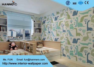 Karikatur-Monster-Muster-umweltfreundliche Tapete für Kinderschlafzimmer