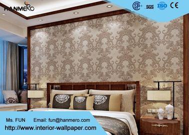 Waschbare Tapete des viktorianischen Stils für Wohnzimmer, zeitgenössischer Damast-Tapeten-Form-Beweis