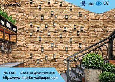 Entfernbare Ziegelstein-Effekt-Tapeten-/Ziegelstein-Effekt-Wandverkleidungen PVCs 3D, erschwinglich