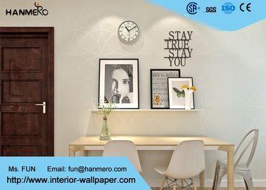 Beige nicht gesponnenes Wallcovering-Papier, moderne gestreifte Tapete für Schlafzimmer und Wohnzimmer