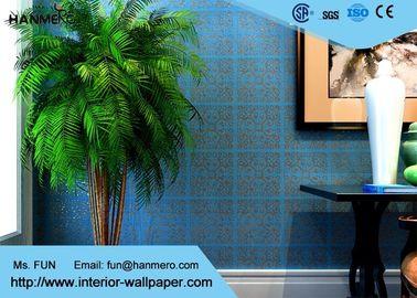 Blau des oberen Bereichs, das nichtgewebte moderne entfernbare Papiertapete für Wohnzimmer bronziert