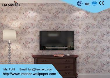 Blumen3D wandverkleidungs-Landhausstil-entfernbare Tapete für Wohnungen