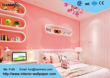 Romantisches Rosa Kinder Schlafzimmer-Tapete Prägeartige,Moderne Rosa Tapete