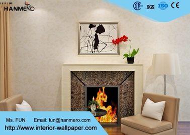 Beige europäische Landhausstil-Tapete mit nicht- gesponnenem Papier, Schlafzimmer-Wandverkleidung