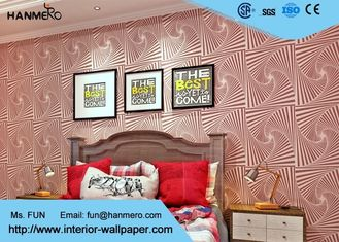 Bördelt Wohnzimmer-modernes entfernbares Tapeten-Rosa-malvenfarbene Streuung Technologie