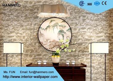 Ziegelstein-Effekt-Wandverkleidungen des 0.53*10m Form-Beweis-3D für Fernsehhintergrund, Steinmuster