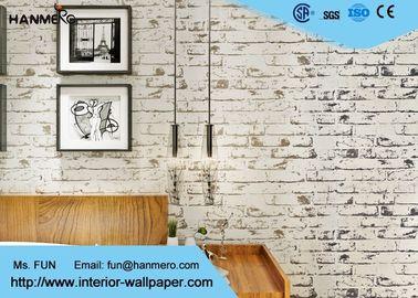 Ziegelstein-Effekt-Haus-Dekorations-Tapete der chinesischen Art-3D, nicht gesponnener Wallcovering