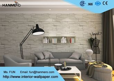 Ziegelstein-Effekt-Tapete der grüne Farbe3d für Haushalt, PVC-Ziegelstein-Effekt-Wandverkleidungen