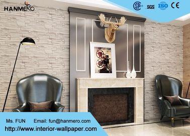 Innenziegelstein-Effekt-Tapeten-/Gelb-gefälschte Backsteinmauer-Bedeckung der Inneneinrichtungs-3D