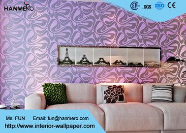 Moderne Wandverkleidung, purpurrote geometrische entfernbare Tapete für Bettwäsche-Raum