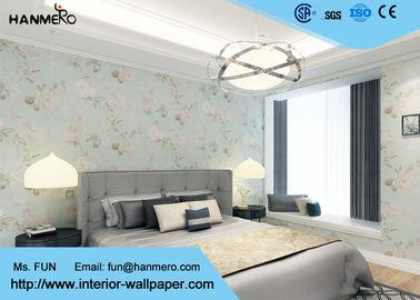 China Feuchtigkeitsfestes Land-Blumentapete/PVC prägte Wandverkleidung für Wohnzimmer fournisseur