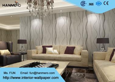 Entfernbare zeitgenössische Wandverkleidungen, moderne nichtgewebte gestreifte Tapete für Wohnzimmer