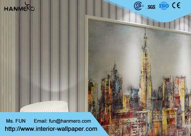 Entfernbare moderne gestreifte zeitgenössische Wandverkleidungen für Bettwäsche-Raum, 0.53*10M
