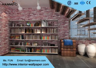 Ziegelstein-Effekt-Tapete des Vinyl3d für Schlafzimmer/Kaffeestube, entfernbare Ziegelstein-Tapete