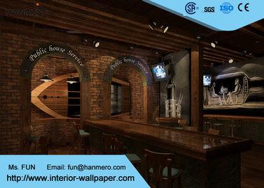 Waschbare Effekt-Tapete des Ziegelstein-3D/stellte Ziegelstein-Tapete mit freundlichem Vinylmaterial Eco heraus