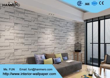 Moderne waschbare Vinylküchen-Tapete mit weißem Muster des Stein-3D, Rolle 0.53*10m/