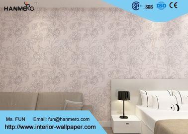 Entfernbare PVC-Land-Schlafzimmer-Tapete/Haushalts-rosa Blumentapete erschwinglich