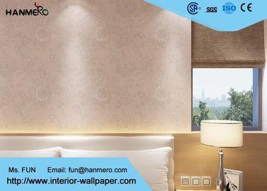 PVC-Landhausstil-Tapete mit Strippable, heller Blumentapete für Wände
