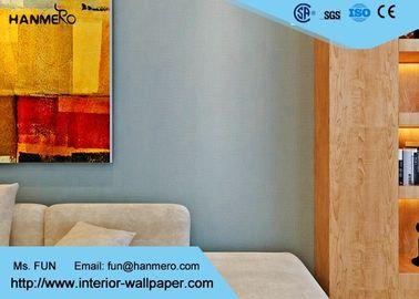 Schalldichte moderne entfernbare Tapete, Ausgangsverzierungstapeten-Blaufarbe