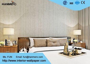 Drucken und Schaum-zeitgenössische Schlafzimmer-Tapete mit natürlichen Betriebsfasern, SGS CSA