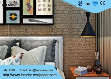 Koreanische Art-zeitgenössische Wandverkleidungen/nicht gesponnene Tapete mit Brown-Farbe