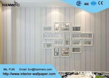 Weiße und purpurrote zeitgenössische Wandverkleidungen für Schlafzimmer, entfernbare Kindertapete