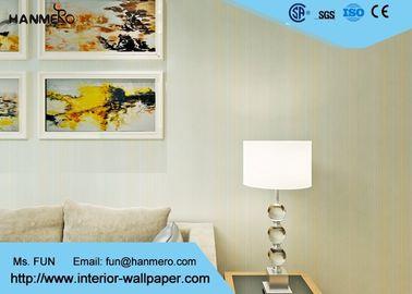 Moderne zeitgenössische Wandverkleidungen/Breathable gestreifte Tapete für Wohnzimmer