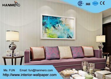 Einfache Mode-graue moderne gestreifte Tapete, moderne selbstklebende Tapete für Hotelzimmer