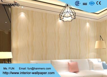 Verzierender moderner entfernbarer Tapeten-Licht Hauptrefection mit warmer beige Farbe