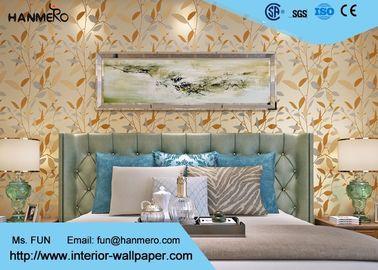 Wirtschaftlich verschönern Sie Blatt-moderne entfernbare Tapete für Inneneinrichtung, reine Farbe