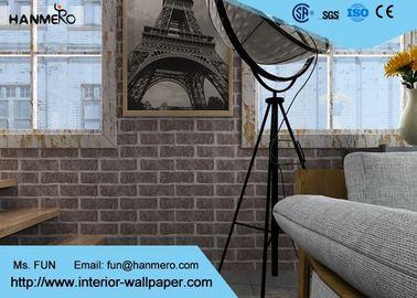 Retro- Effekt-Tapete der Backsteinmauer-3D für Wohnzimmer, chinesische Art-Tapete