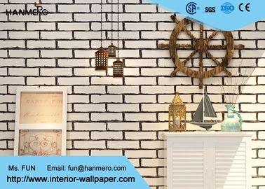 Weiß 3D Ziegel-Effekt Tapete/Eco-Freundlich entfernbare PVC-Vinyl-Tapete