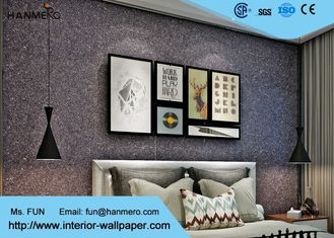 Schlafzimmer-Glimmer-Stein-Tapete, Effekt-Tapete des Ziegelstein-3d mit Vermiculit-Material