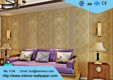 Asiatische angespornte Tapete des Wohnzimmer-0.53*10/asiatische themenorientierte Tapeten-Beige-Farbe