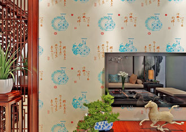Chinesische Art-Weinlese spornte Tapeten-/feuchtigkeitsbeständige Tapeten-hohe Qualität an