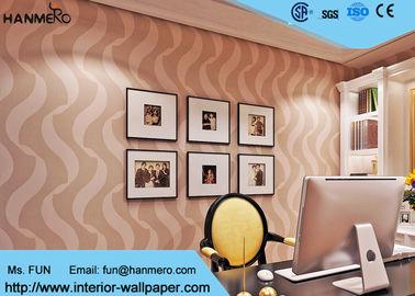 Schlafzimmer-Luxus nicht gesponnener Wallcovering für Inneneinrichtung, Schaumoberfläche-Behandlung