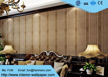 Wohnzimmer-Tapete der Garn-moderne entfernbare Tapeten-0.53m Brown