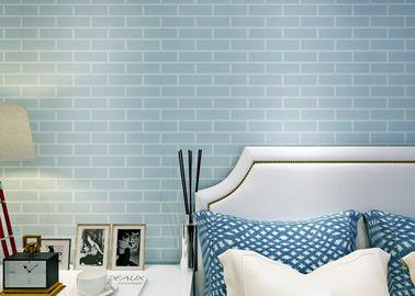 Blaue vor- geklebte selbstklebende Wandverkleidung nicht gesponnen/Tapete des Ziegelstein-3D, CER Standard