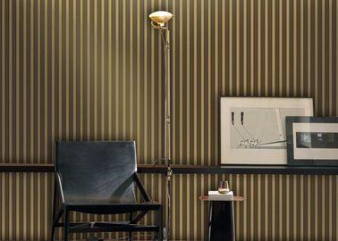1.06*10M Streifen-Samt-Blick-Tapete, Wohnzimmer-Tapete mit multi Farbdruck